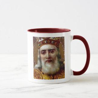 Santo Nicholas del navidad del vintage Taza