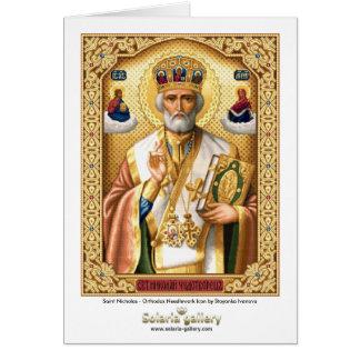Santo Nicholas - tarjeta de felicitación