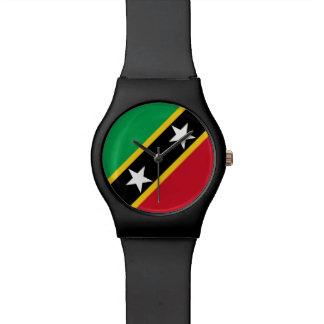 Santo San Cristobal y bandera de Nevis Reloj De Pulsera