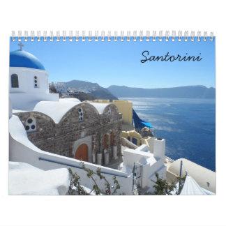 Santorini 2018 calendarios de pared