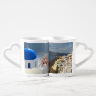 Santorini por la tarde Sun Set De Tazas De Café