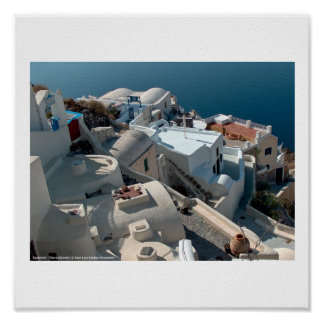 Santorini Thera Grecia 22 Póster