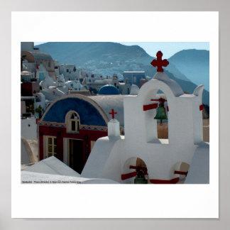 Santorini Thera Grecia 77 Póster