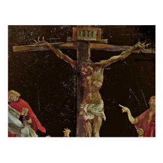 Santos de la crucifixión en los pies de Jesús Postal