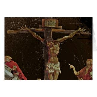 Santos de la crucifixión en los pies de Jesús Tarjeta De Felicitación