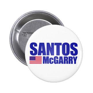 Santos McGarry Chapa Redonda De 5 Cm