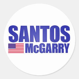 Santos McGarry Pegatina Redonda