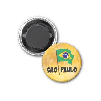 Sao Paulo, bandera del Brasil Imanes