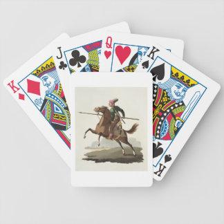 """Saphir, de los """"trajes de las diversas naciones"""",  baraja de cartas bicycle"""