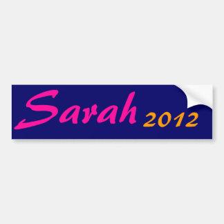 Sarah, 2012 pegatina para coche