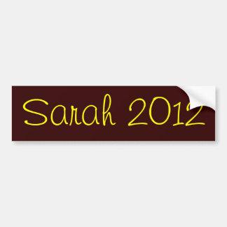 Sarah 2012 pegatina para coche