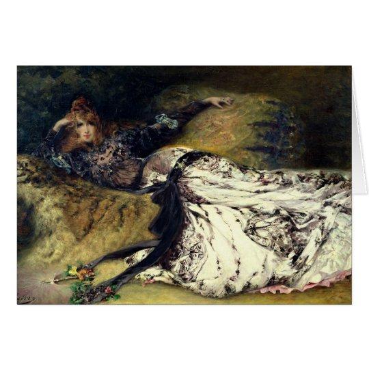 Sarah Bernhardt 1871 Tarjeta De Felicitación