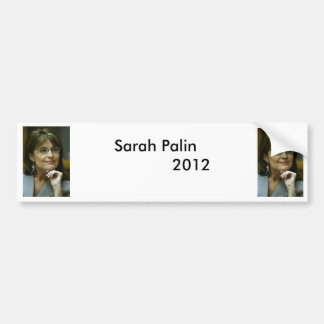Sarah Palin 2012: Diseño uno Etiqueta De Parachoque