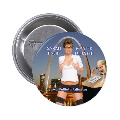 Sarah Palin - botón principal del Debater Pins
