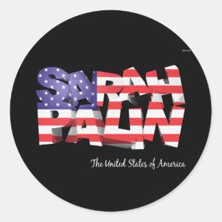 Sarah Palin los E.E.U.U. Pegatina Redonda