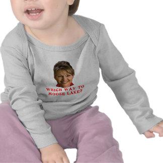 Sarah Palin que manera al humor del lago moose Camiseta