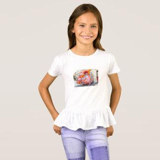 Sarah y camisa del volante de los chicas de Zachy