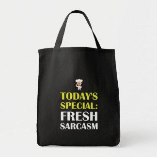 Sarcasmo especial de hoy bolso de tela