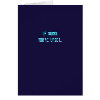 Sarcástico soy tarjeta triste de la disculpa (las