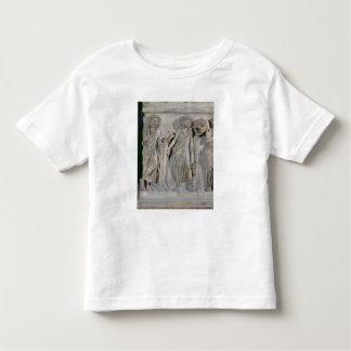 Sarcófago de las musas, detalle de Clio y Camisetas