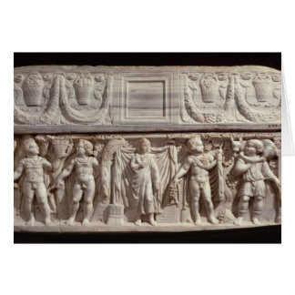 Sarcófago que representa el difunto felicitaciones
