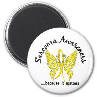 Sarcoma de la mariposa 6,1 del tatuaje del Grunge Imán Redondo 5 Cm