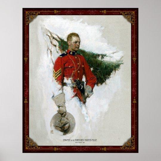 Sargento de la policía montada noroeste - 1919 póster
