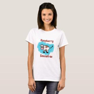 Sasafrás clásico de la frambuesa en la camiseta