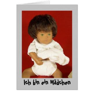 Sasha bebé denuncia de nacimiento tarjeta