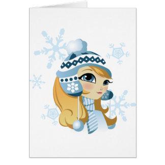 ¡Sasha el conejito de la nieve! Tarjeta De Felicitación