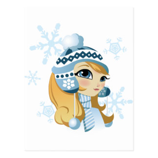 ¡Sasha el conejito de la nieve! Postal