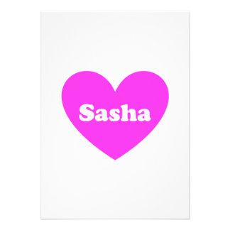 Sasha Comunicado Personalizado
