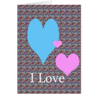 Sassafrass y dicha I Love_groovy Tarjeta De Felicitación