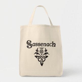 Sassenach - cardo céltico bolso de tela