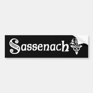 Sassenach - cardo céltico pegatina para coche
