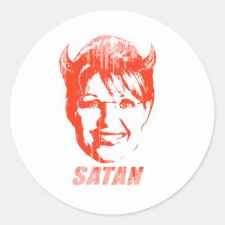 Satan Palin Faded png Pegatina Redonda