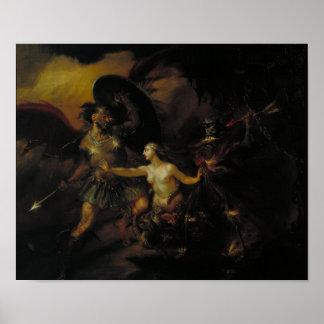 Satan pecado y muerte poster