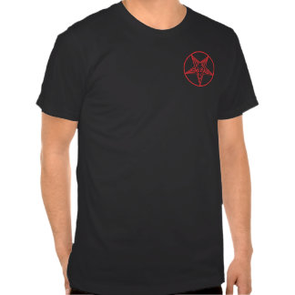 Satanica atractivo camiseta