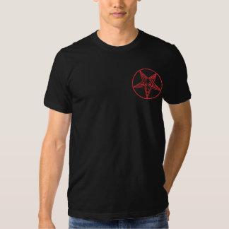Satanica atractivo camisetas