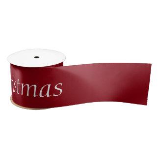 """Satén 3"""" de las Felices Navidad cinta para Lazo De Raso"""
