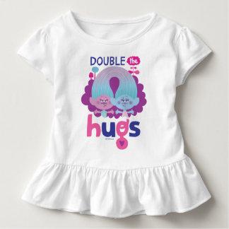 Satén y felpilla - los abrazos dobles de los camiseta de bebé