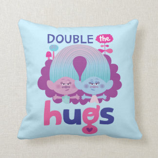 Satén y felpilla - los abrazos dobles de los cojín decorativo