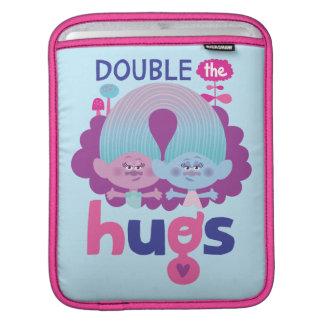 Satén y felpilla - los abrazos dobles de los funda para iPad