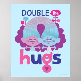 Satén y felpilla - los abrazos dobles de los póster