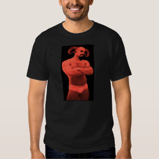 Sátiro en camiseta de los escritos II (versión