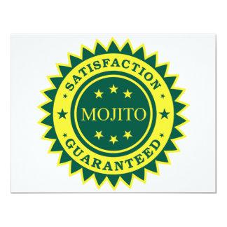 Satisfacción garantizada invitación 10,8 x 13,9 cm