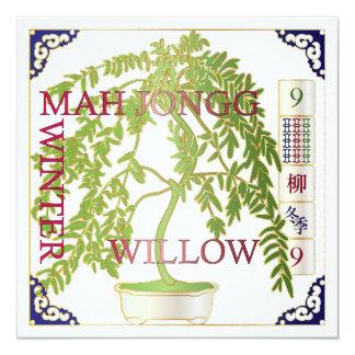 Sauce del invierno del Mah Jongg Invitación 13,3 Cm X 13,3cm