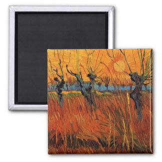 Sauces de Van Gogh en la puesta del sol, Imanes
