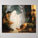 Saul y la bruja de Endor, por Benjamin del oeste Impresiones