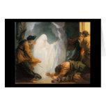 Saul y la bruja de Endor, por Benjamin del oeste Tarjeton